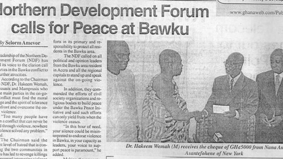 NDF calls for peace a Bawku