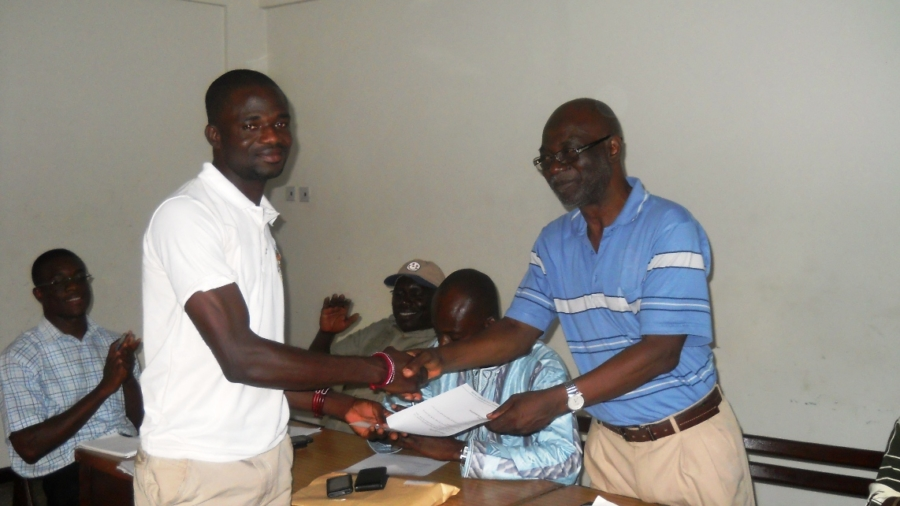NDF Hounouring Three of it's members for varrious achiements at the offical work places 3